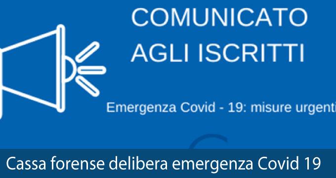 Cassa Forense Emergenza COVID 19